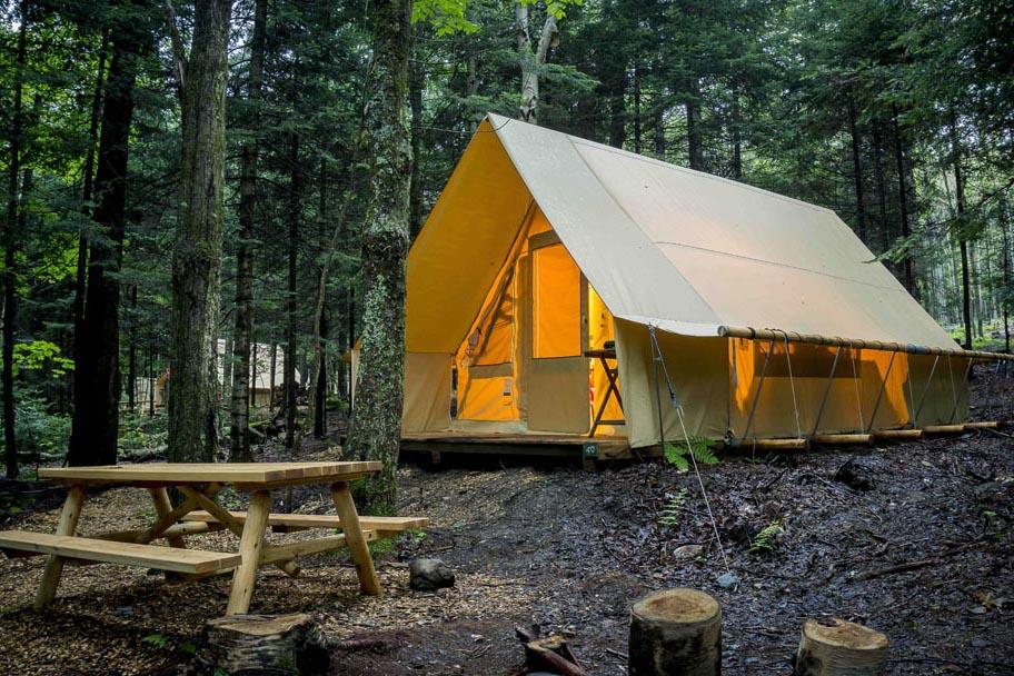 huttopia sutton, endroits pour faire du camping quebec