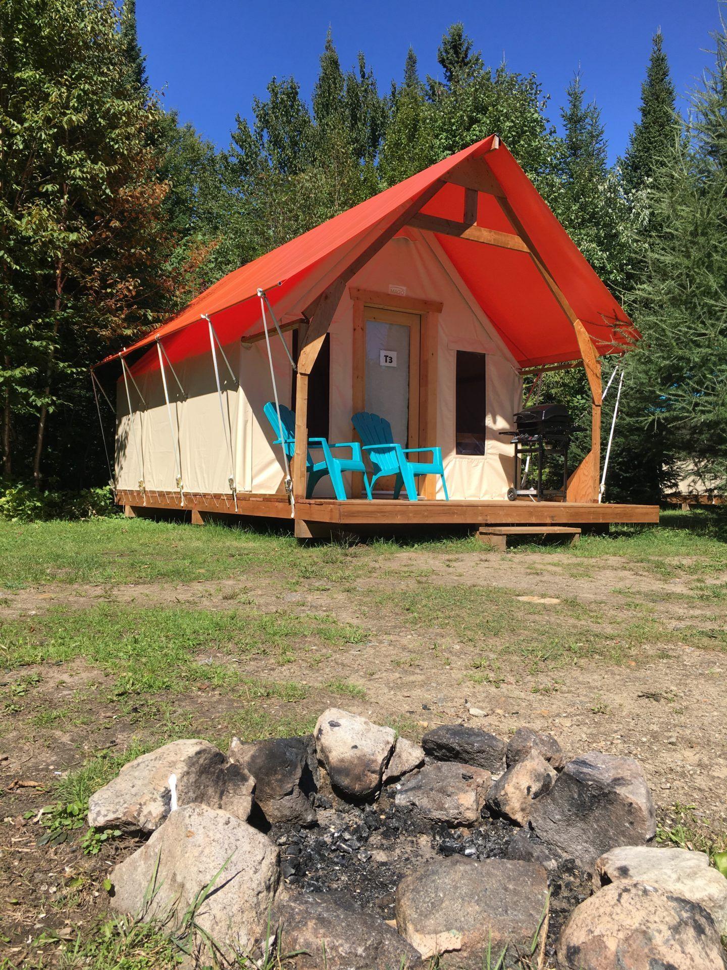 Tente du camping du Domaine Lausanne