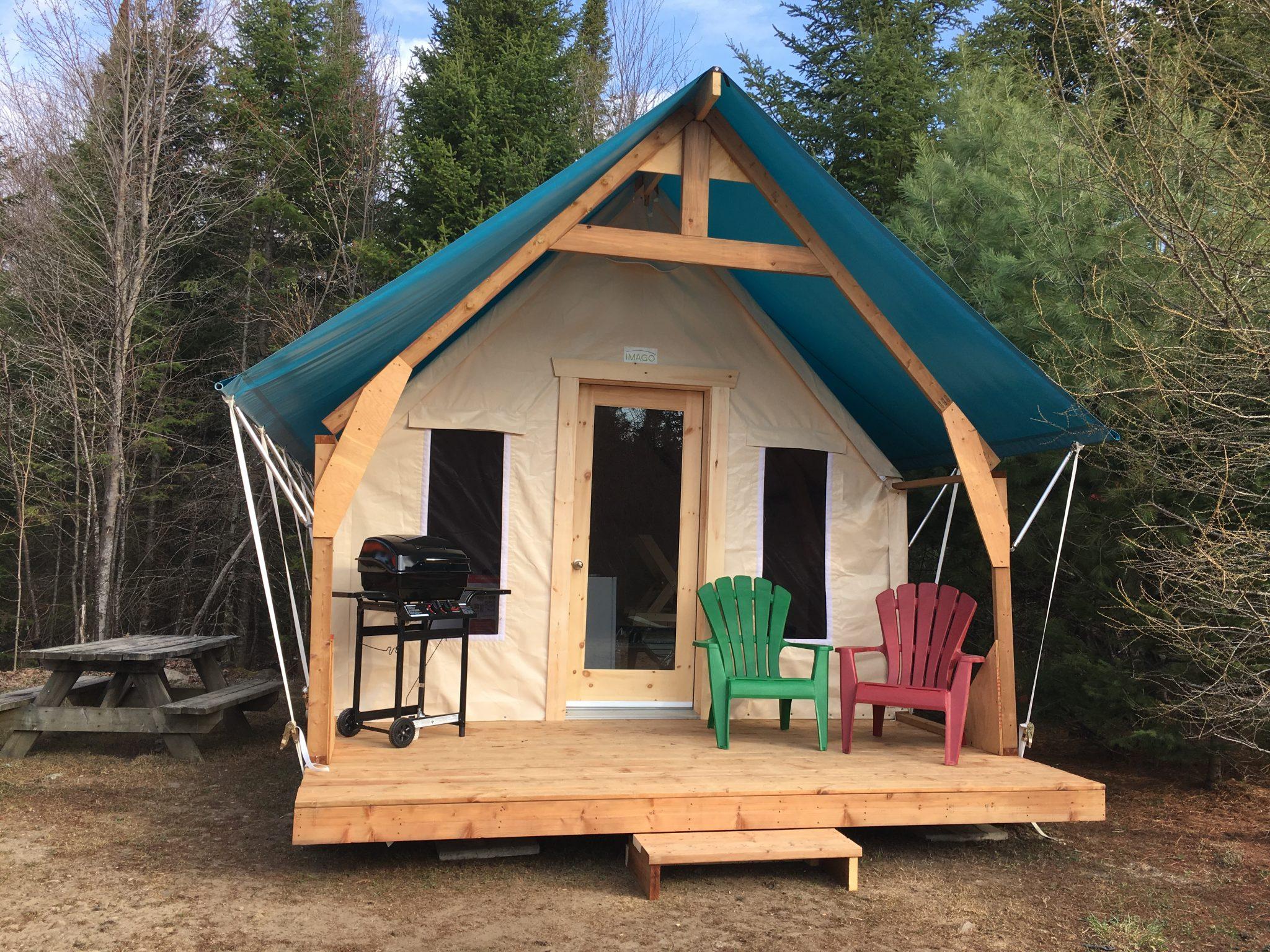 Tente glamping du camping du Domaine Lausanne