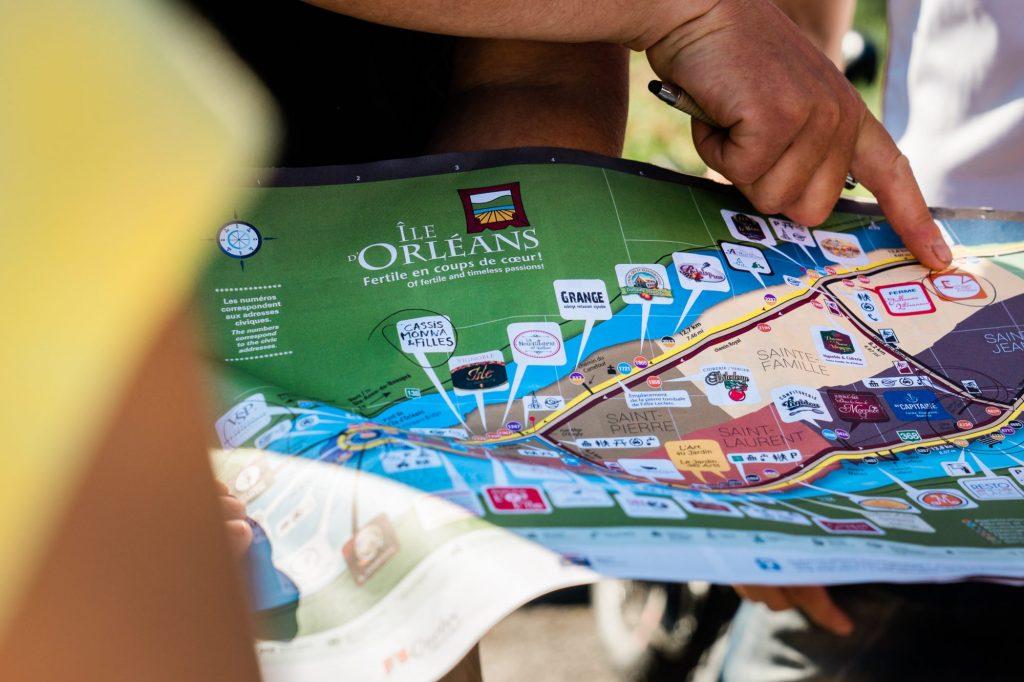 Carte de l'île d'Orléans