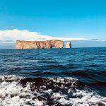 Le rocher percé à Percé en Gaspésie